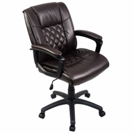 costway-brown-leather-office-chair