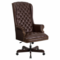 flash-brown-leather-office-chair