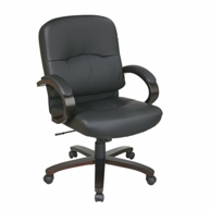 scranton-co-black-leather-office-chair-for-sale