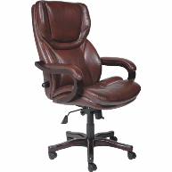 serta-brown-leather-office-chair